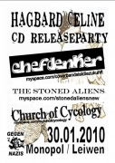 30.01. CD-Release  Hagbard Celine, Chefdenker, Church of Cyclogy & Stoned Aliens im Club Monopol in Leiwen